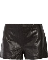 J Brand Tullia Snake Effect Leather Shorts