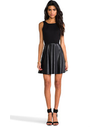 Derek Lam 10 Crosby Fit And Flare Leather Dress Where To