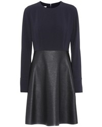 Stella McCartney Crpe And Faux Leather Dress