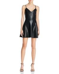 Aqua Faux Leather Cami Dress
