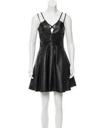 Cushnie et Ochs Leather Cocktail Dress