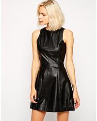 Muu Baa Muubaa Belvide Leather Skater Dress