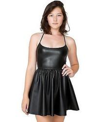 American Apparel Rsaplh340 Vegan Leather Figure Skater Dress