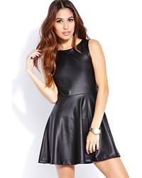 Forever 21 Sleek Faux Leather Skater Dress
