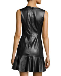 Ali Ro Faux Leather Illusion Fit And Flare Dress Where