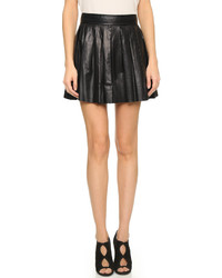 Box pleat leather skirt medium 268961