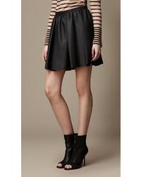 Burberry Lambskin Skater Skirt