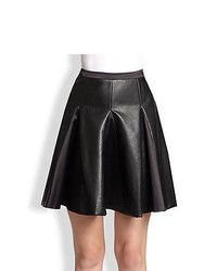 By Malene Birger Lookalike Pleated Faux Leather Skirt Black