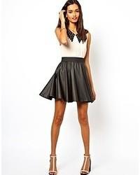 dbceb8b03 Women's Black Leather Skater Skirts from Asos | Women's Fashion ...