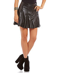 Coco Jameson Faux Leather Skater Skirt