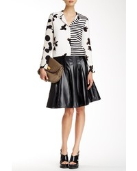 Marc by Marc Jacobs Faux Leather Panel Pleat Skirt