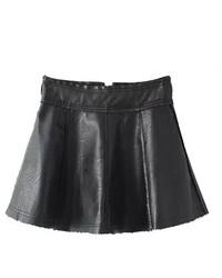 ChicNova High Waist Pu Leather Skirt