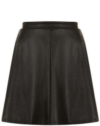 Dorothy Perkins Leather Look Skater Skirt