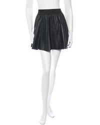 Parker Leather Pleated Mini Skirt
