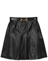 Leather pleated skirt medium 534278