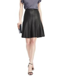Banana Republic Limited Edition Pleated Leather Skirt