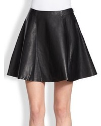 Kate Spade New York Leather Circle Skirt