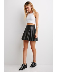 Forever 21 Pleated Faux Leather Skirt