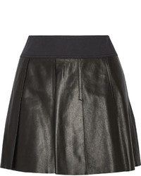 Vince Pleated Leather Skirt