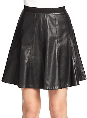 22d310e8ec Rebecca Taylor Pleated Faux Leather Skirt, $295 | Off 5th ...