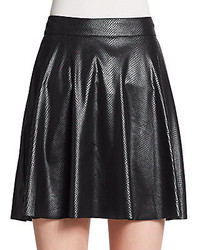 Ella Moss Snake Embossed Faux Leather Skater Skirt