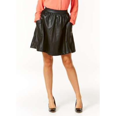 vila faux leather skater skirt by where to buy how to wear