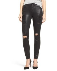 7 for all mankind coated ankle skinny jeans medium 816999