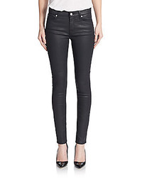 7 For All Mankind Gwenevere Coated Skinny Jeans