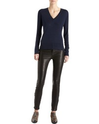 J Brand 811 Mid Rise Skinny Leather Pants