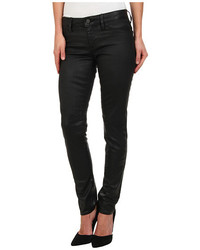 Mavi Jeans Adriana Midrise Super Skinny In Black Coated