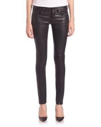 AG Jeans Ag Leather Five Pocket Skinny Jeans