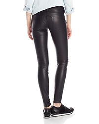 Black Orchid Jude Mid Rise Super Skinny Vegan Leather Jean