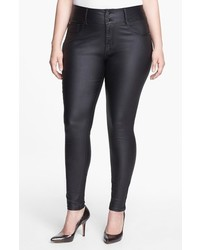 City Chic Plus Size Wet Look Stretch Skinny Jeans