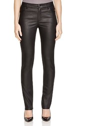 Lafayette 148 New York Coated Curvy Slim Leg Jeans In Black