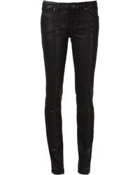 Diesel Black Gold Leather Effect Skinny Jeans