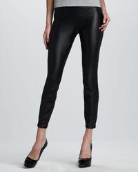 Blank Faux Leather Leggings Black Bean