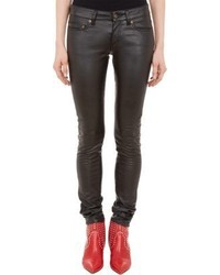 Saint Laurent Faux Leather Skinny Jeans