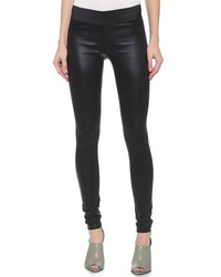 Gold Sign Goldsign Zebra Coated Legging Jeans