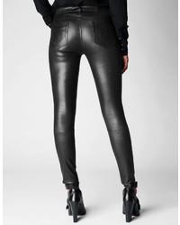 83c0d6efc2 True Religion Halle Mid Rise Super Skinny Leather Pant, $698 | True ...