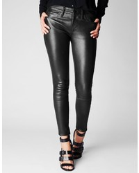 True Religion Halle Mid Rise Super Skinny Leather Pant