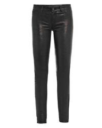 J Brand L8001 Leather Super Skinny Jeans
