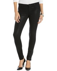James Jeans Black Stretch Cotton Coated James Twiggy Skinny Jeans