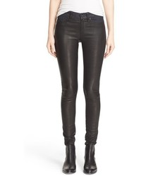Rag & Bone Jean Hyde Leather Panel Skinny Jeans