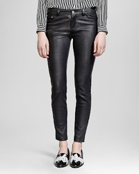 The Kooples Jeans Leather In Black