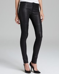 Vince Jeans Moto Skinny Leather