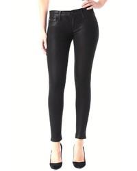 Hudson Jeans Noir Coated Skinny