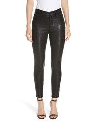 L'Agence Lagence Adelaide High Waist Crop Leather Jeans
