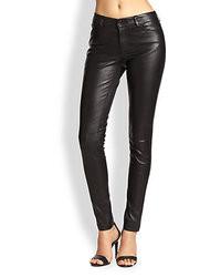Alice + Olivia Leather 5 Pocket Skinny Pants