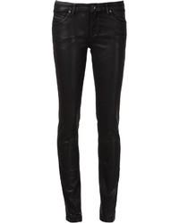 Leather effect skinny jeans medium 255496