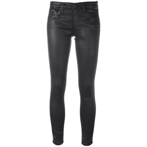 AG Jeans Leather Effect Skinny Jeans
